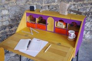 bureau-vintage-industriel-secrétaire-pierre-cardin-violet-violetta-1
