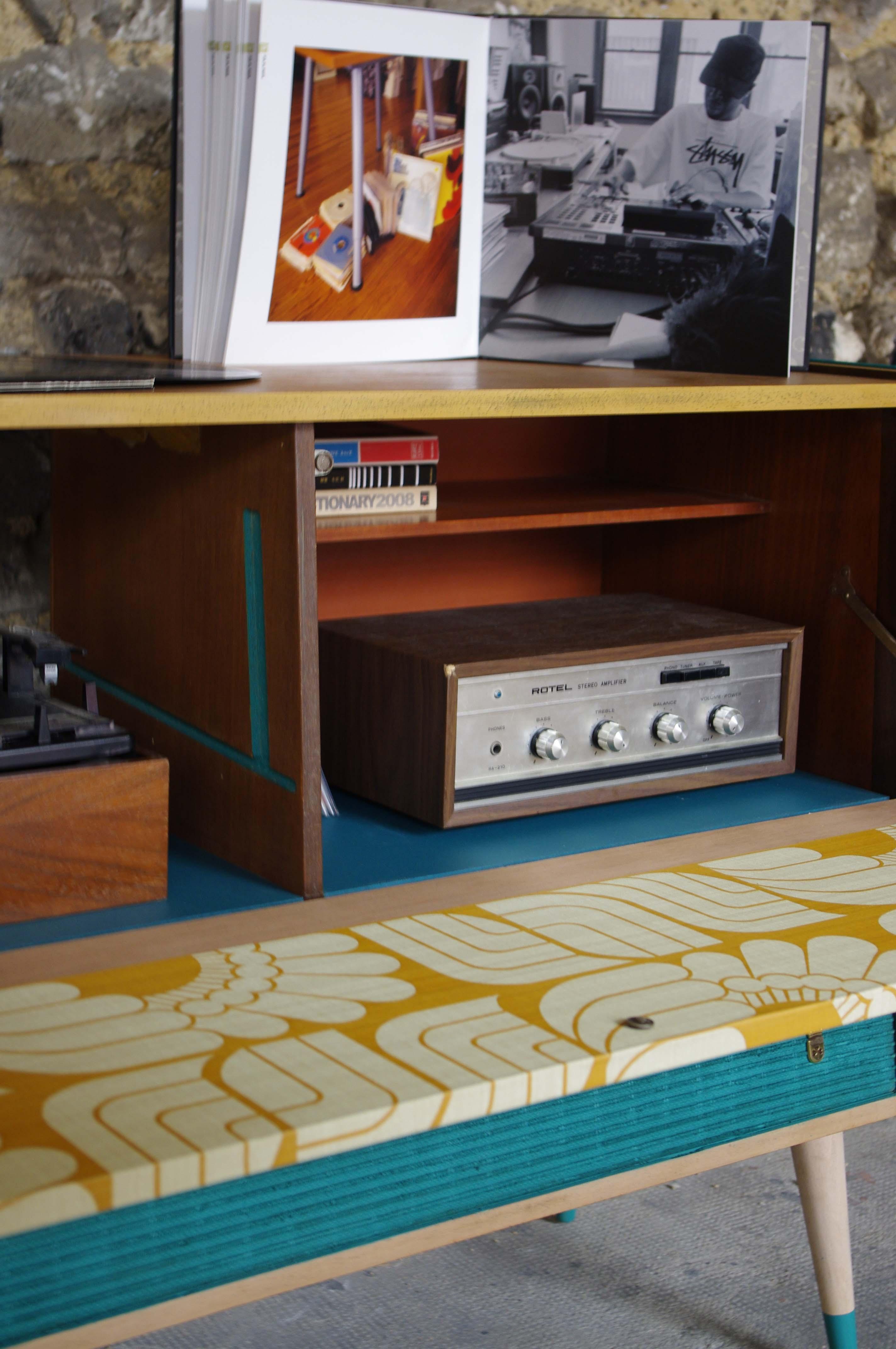Meuble Hifi Grundig Stereo Vintage Flowers Hifi 3 Rayr Concept  # Meuble Hifi Vintage