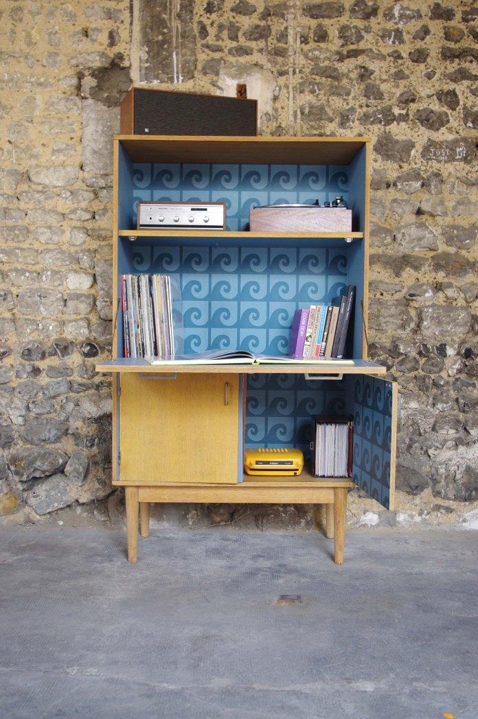 secrétaire-bibliothèque-vintage-pierre-cardin-wave-1