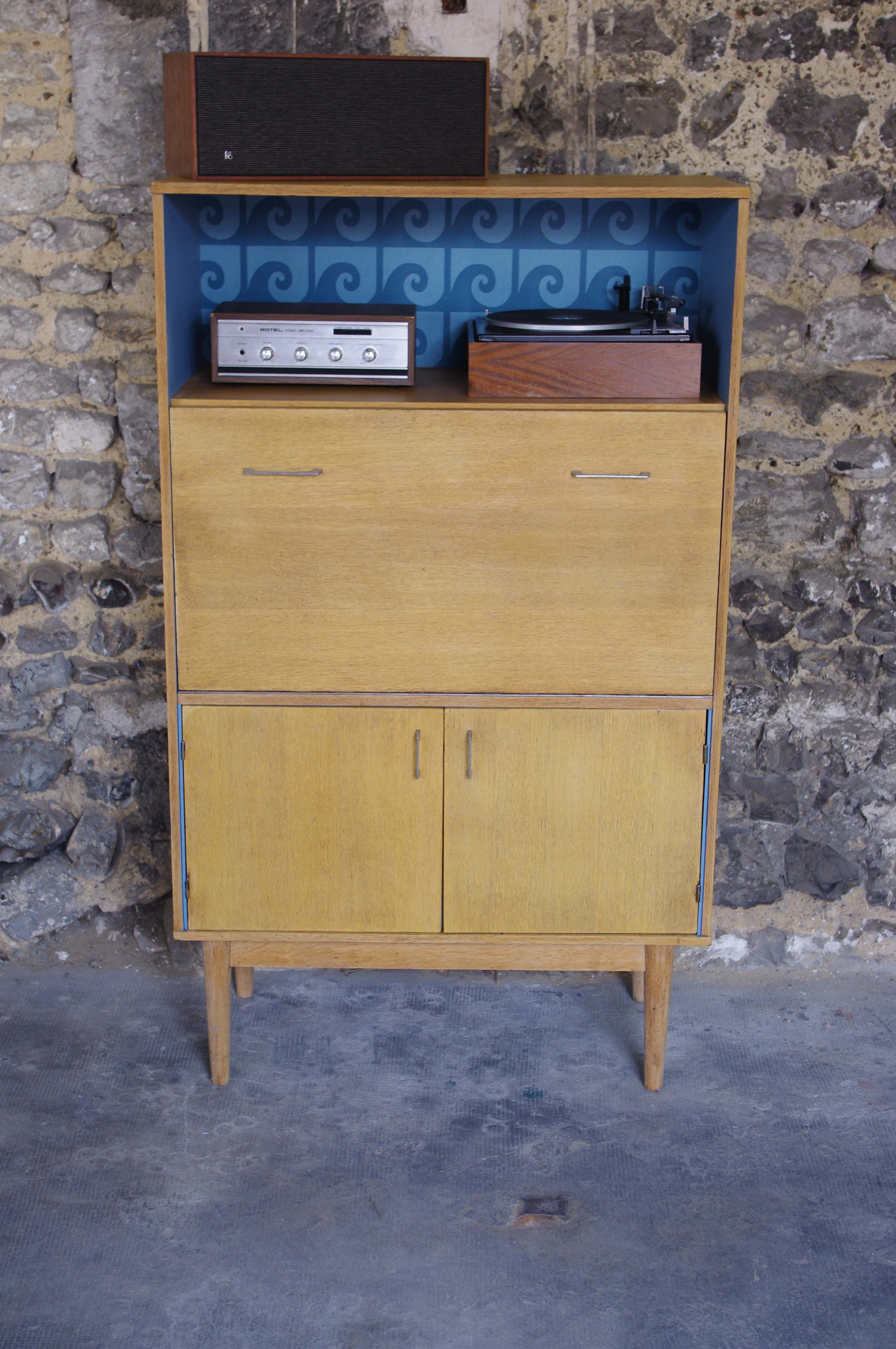 secr taire biblioth que vintage pierre cardin wave 3 rayr concept mobilier vintage. Black Bedroom Furniture Sets. Home Design Ideas