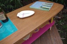 table-basse-vintage-bois-design-verre-rose-jaune-conique-6