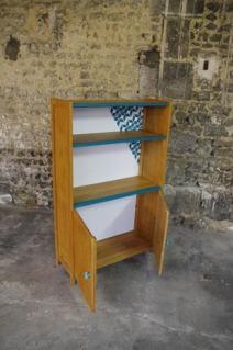 bibliothèque-étagère-vintage-relookée-peint-vaisselier-turquoise-Rouen-Paris-4