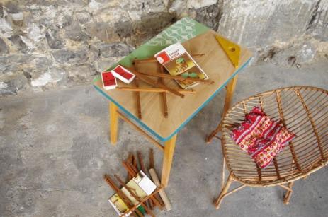 bureau-vintage-enfant-papier-peint--vert-bois-Rouen-Paris-3