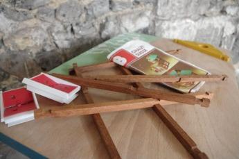 bureau-vintage-enfant-papier-peint--vert-bois-Rouen-Paris-4