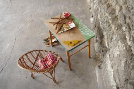 bureau-vintage-enfant-papier-peint--vert-bois-Rouen-Paris-6