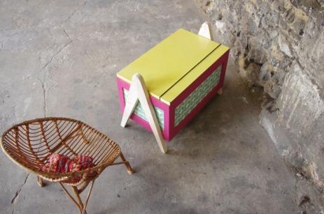 coffre-à-jouet-vintage-enfant-rangement-rose-vert-pied-compas-Rouen-Paris-7