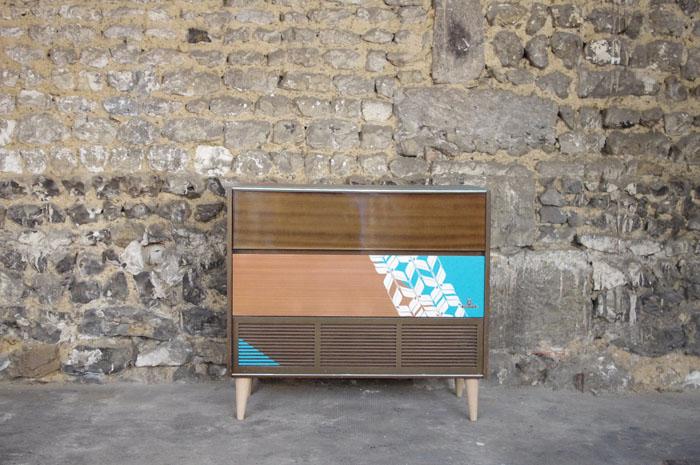 meuble-hifi-Grunding-vintage-vynile-platine-enfilade-bleu-XO-Rouen-Paris-1
