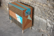 meuble-hifi-Grunding-vintage-vynile-platine-enfilade-bleu-XO-Rouen-Paris-2