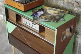 meuble-hifi-Grunding-vintage-vynile-platine-enfilade-vert-blackboard-Rouen-Paris-16
