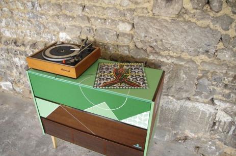 meuble-hifi-Grunding-vintage-vynile-platine-enfilade-vert-blackboard-Rouen-Paris-18