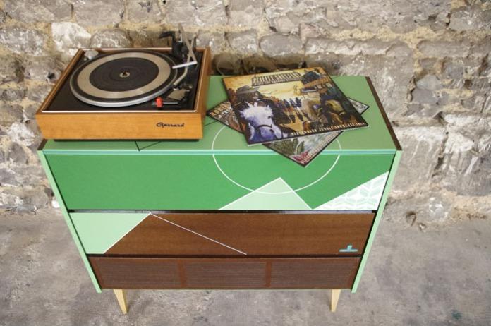 meuble-hifi-Grunding-vintage-vynile-platine-enfilade-vert-blackboard-Rouen-Paris-7