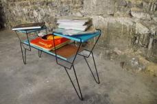 mini-table-enfant-vintage-disque-plante-étagère-turquoise-Rouen-Paris-2