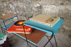 mini-table-enfant-vintage-disque-plante-étagère-turquoise-Rouen-Paris-3