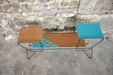 mini-table-enfant-vintage-disque-plante-étagère-turquoise-Rouen-Paris-5