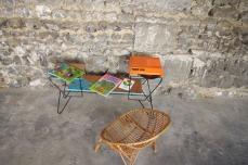 mini-table-enfant-vintage-disque-plante-étagère-turquoise-Rouen-Paris-8